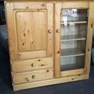 [ナチュラル天然木コンパクト食器棚]⁑リサイクルショップヘルプ