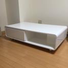 テレビ台 テーブル ローテーブル 白 ホワイト ツヤ