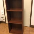 【値下げ】ウォールナットの色味(茶色)の薄型本棚