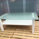 [ガラス白テーブル]⁑リサイクルショップヘルプ