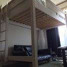 ロフトベッド セミダブル システムベッド 木製ロフトベッド/セミダ...