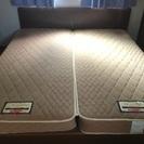 ◆クイーンベッド◆フランスベッドマットレス+ベッドフレーム