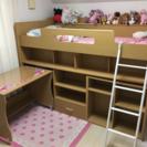 [商談中]子供用ロフトベッド☆机付き