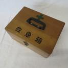 レトロ 木製薬箱 救急箱 E