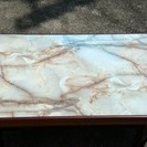 レア レトロ モダン 大理石風 テーブル 高級感