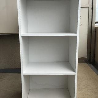 カラーボックス 白 三段