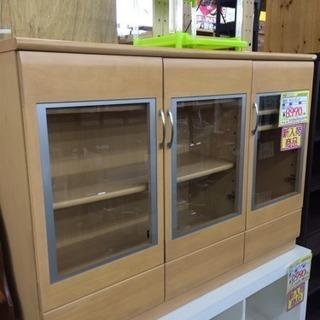 サイドボード ガラス扉 収納棚 コレクションケース 120幅 福岡...