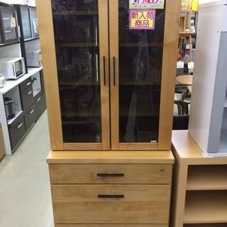 2面 食器棚 カップボード レンジボード 木目 糸島 福岡 唐津