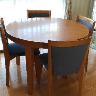 大塚家具 円形ダイニングテーブルセット