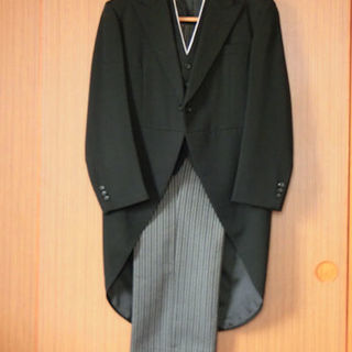 【美品】モーニング 礼服 ミユキ毛織(日本製)メンズ