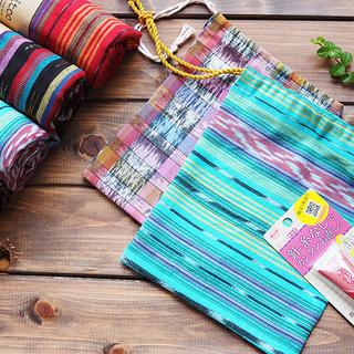 まだ間に合う!夏の自由研究 グアテマラの布を使って 給食セットの巾...