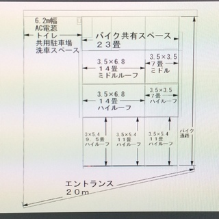 宇都宮市駅東に隠れ家的趣味のガレージ 22畳タイプ ミドルルーフ ...