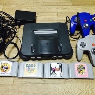 任天堂Nintendo64とソフト4つ
