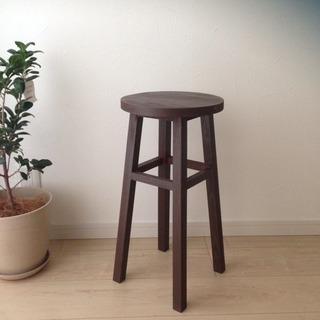 ★まとめ割あり★ 素敵な木製スツール 椅子 置き台 ブラウン