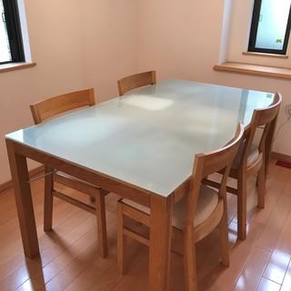 IKEA製ダイニングテーブル(引出し付き)、椅子4脚売ります