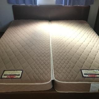 クイーンサイズ 多収納ベッドフレーム