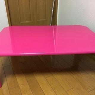 【値下げ】ビビットピンク♡ローテーブル