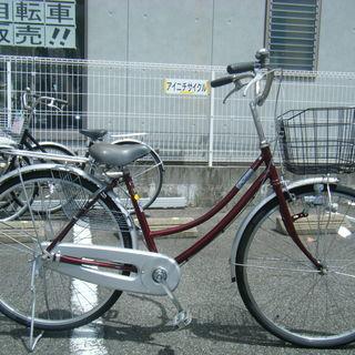 中古自転車31(防犯登録無料) 前後タイヤ新品交換!タウンサイクル...