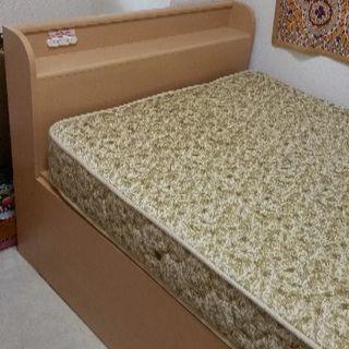 シングルベッド 差し上げます 大容量収納付き☆(マットレス付)
