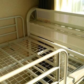ニッセンロフトベッド 低床タイプ 白 宮付き スライドハンガーパイプ