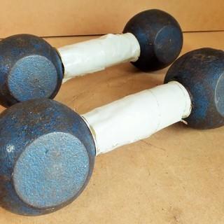 鉄アレイ 4kg×2個 1kg×2個 10kg分◆基礎体力アップを...
