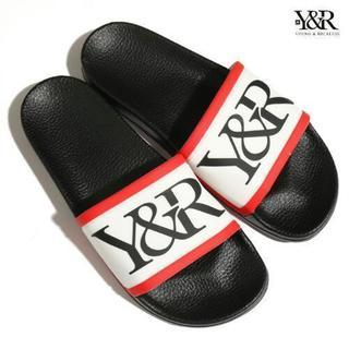 YOUNG&RECKLESS SLIDES【WHITE×RED】【...