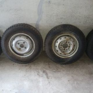 【商談中】軽トラック、バン用履き潰しスタッドレス鉄ホイール4本セット