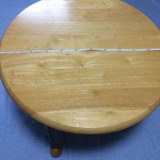 【折り畳み 丸テーブル】 便利!