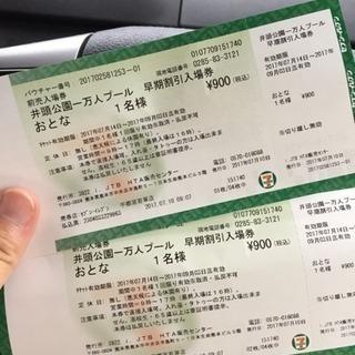 真岡 井頭公園1万人プール 早期割引券