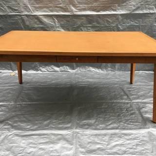 朝日木材加工 テーブル 引き出し付き 1600×900×700