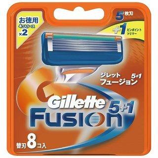 【新品】ジレット 髭剃り フュージョン 5+1 替刃8個入