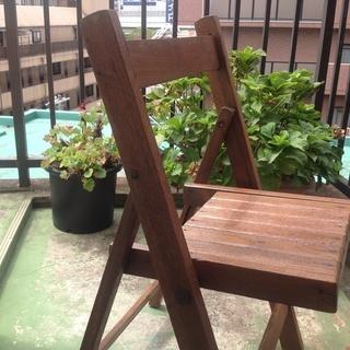 【カントリー家具】 折りたたみ式 デッキチェア
