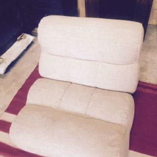 リクライニングソファー 布製 一人用リクライニングソファー