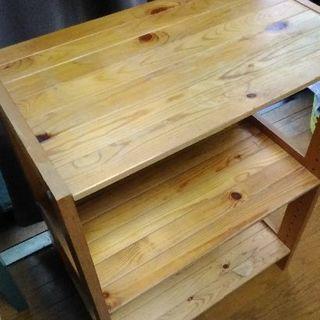シンプル木材収納棚値下げしました。