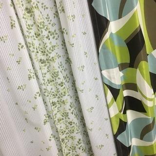 カーテン、白緑茶水色、植物、葉っぱ、遮光カーテン、自然、落ち着く