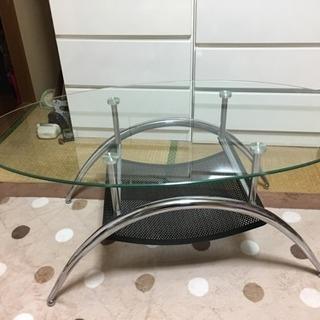 ガラステーブル(楕円形)