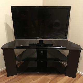 テレビ台 ブラック 黒 ガラス製