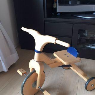 【BorneLund ボーネルンド製】子供用の木製三輪車