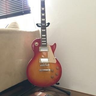 エレキギターとギタースタンドセット
