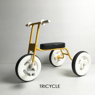 三輪車 おもちゃ 乗り物 玩具 黄 イエロー シンプル モダン か...