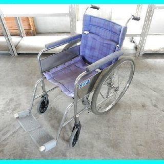 引取り限定★山田式手押し折り畳み式車いす 車椅子 車イス 要パンク修理