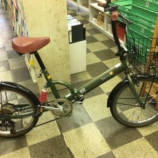 [4741]折りたたみ自転車 20インチ 外装6段変速 モスグリーン