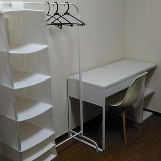 IKEA 机+椅子+洋服ラック 3点セット
