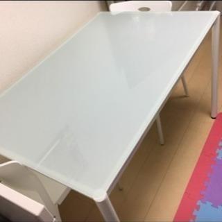 ガラス製ダイニングテーブルセット 椅子4脚