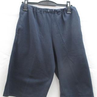 (F-733) 膝丈パンツ ノーブランド サイズ不明 ネイビー系 ...