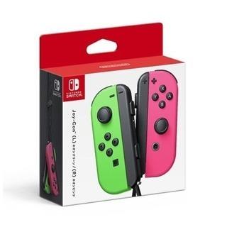 【新品】Nintendo Swichのjoy-conスプラカラー