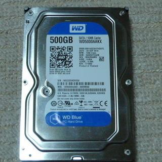 ウエスタンデジタル3.5インチハードディスク500GB