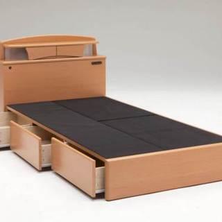 ボンネルマットレス・シングル&宮棚・照明・収納付きシングルベッド ...