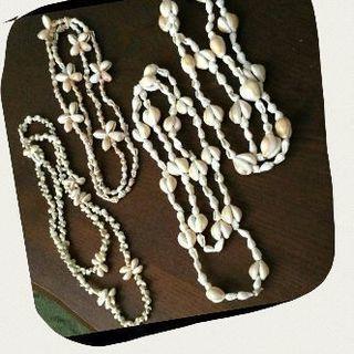天然貝殻のネックレス