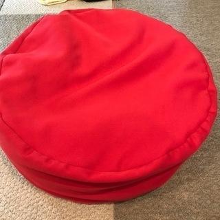 ビーズクッション(赤)直径55cm